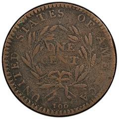 1794 Starred Reverse Cent reverse