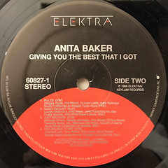 ANITA BAKER:GIVING YOU THE BEST THAT I GOT(LABEL SIDE-B)