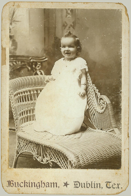 Cabinet Card small child in a chair