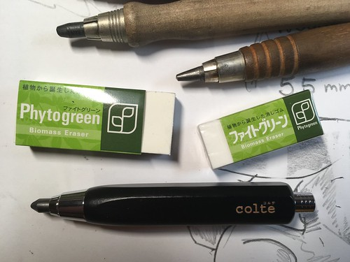 #JetPens Blog Sponsorship Lot for November: #Colte Sketch Pen Leadholder, Kokuyo Enpitsu 1.3 Sharp #Mechanical-Pencil, & #Sakura Phytogreen Biomass #eraser