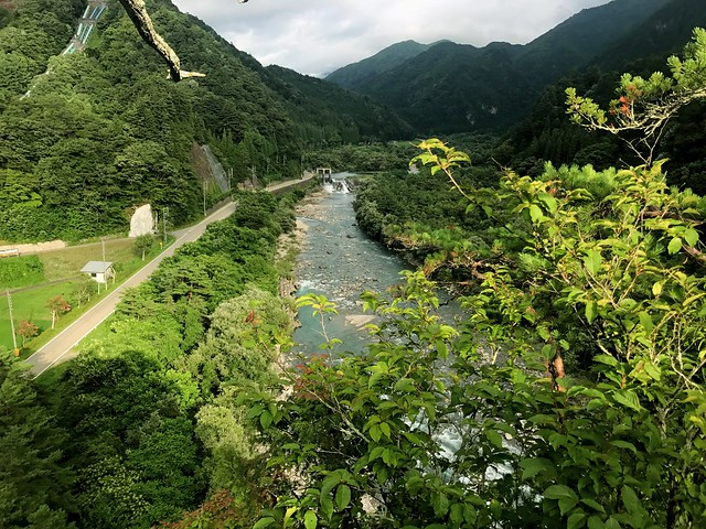 杖石 眺望 高原川