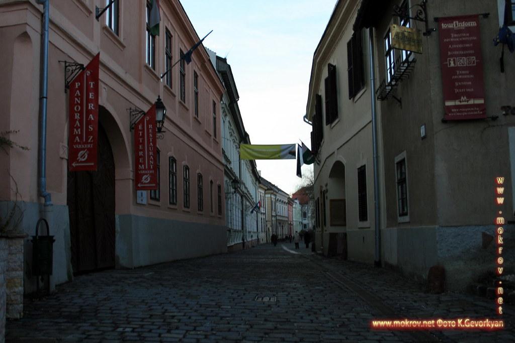 Веспрем — город в Венгрия с фотоаппаратом прогулки туристов