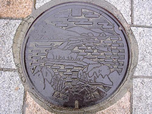 Miyazu Kyoto, manhole cover 4 (京都府宮津市のマンホール4)