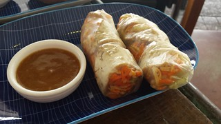 Vegan Rice Paper Rolls at Cafe O'Mai