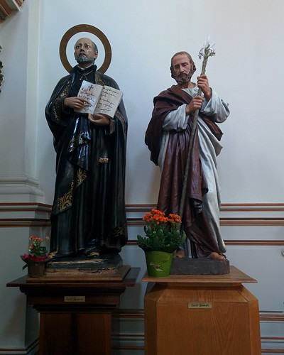 Saints Ignatius and Joseph Saint Anthony and child #toronto #sherbournestreet #ourladyoflourdes #churches #romancatholicism #saintignatius #saintjoseph #statue #latergram