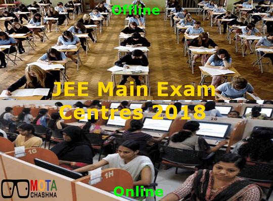 JEE Main Exam Centres 2018