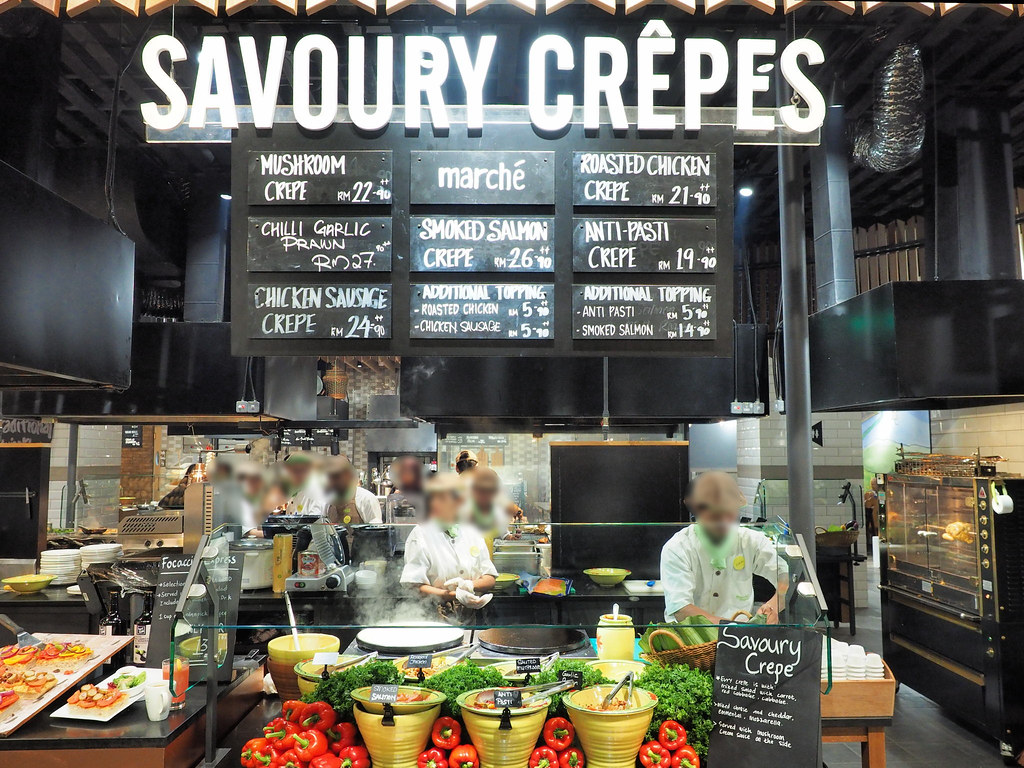Savoury Crepes section in Marché Mövenpick