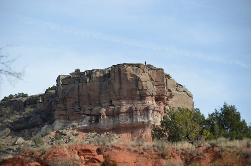 Palo Duro cliff with someone on top