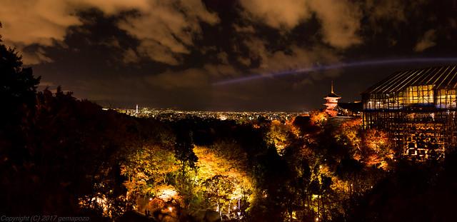 [Panorama] viewing from Kiyomizu-dera temple