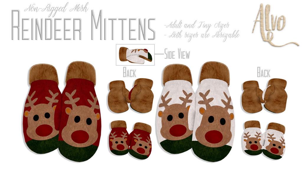 Reindeer Mittens for Christmas!! - TeleportHub.com Live!