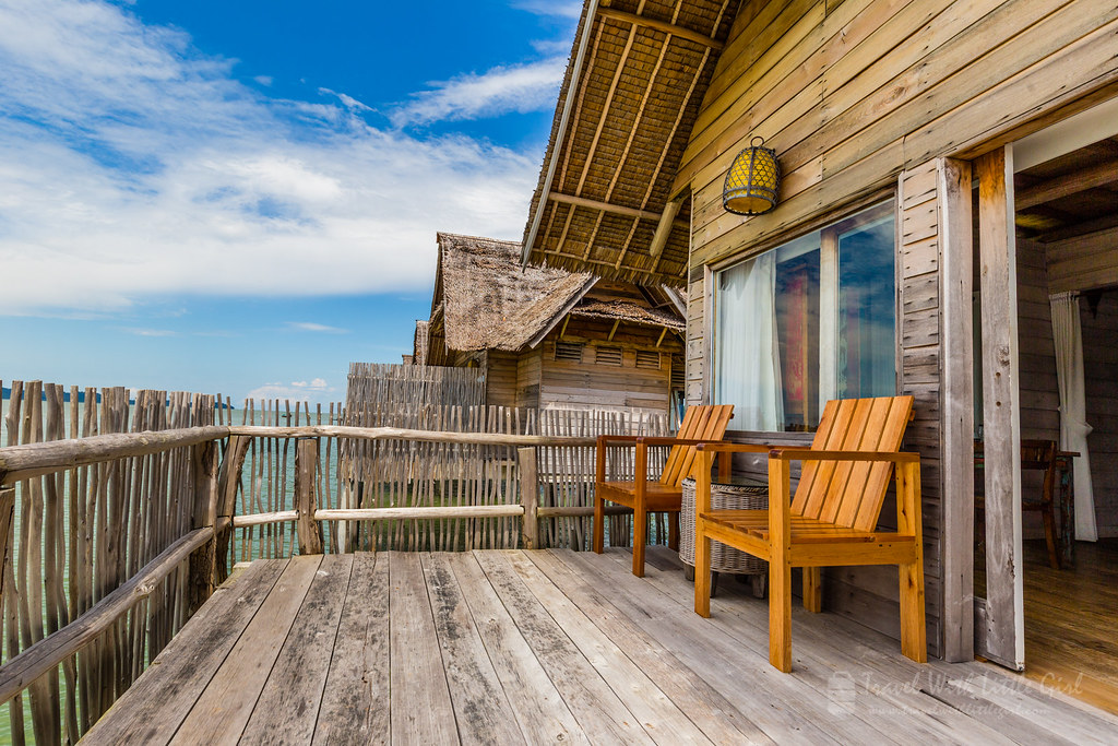 Our personal cozy balcony, Telunas Private Island