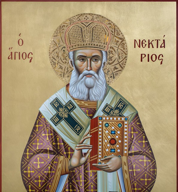 Ikona św. Nektariusza z Góry Athos