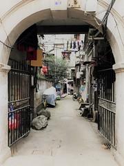 Toegangspoort tot traditioneel wooncomplex in Hankou (3)
