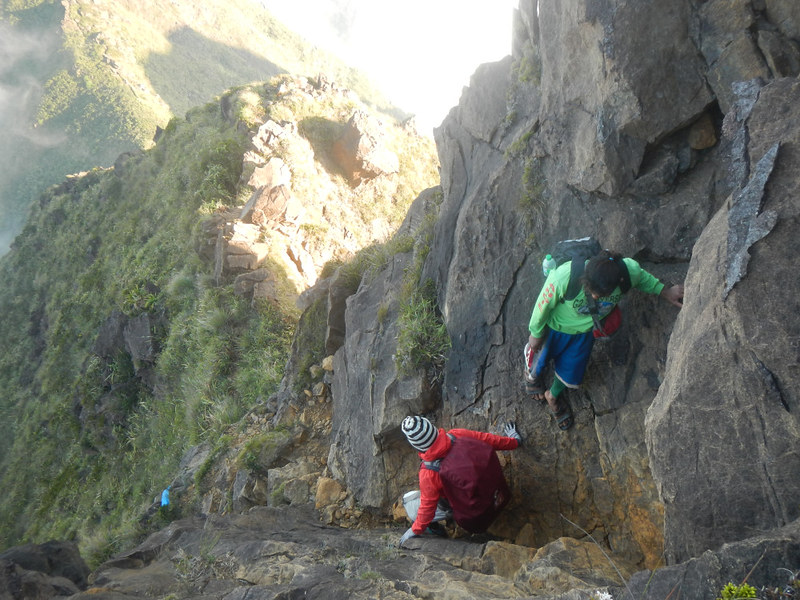 Descending the Hillary Step