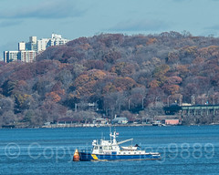 NYPD Harbor Unit Patrol Boat on the Hudson River, New York City