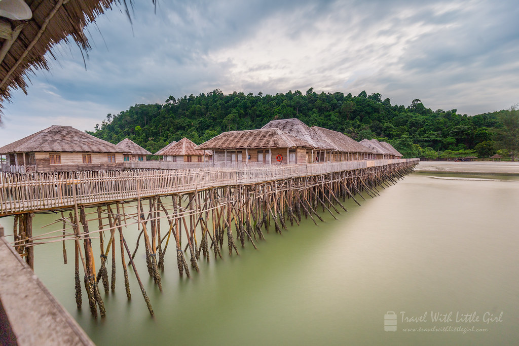 Long exposure, taken from the dining hall, Telunas Beach Resort