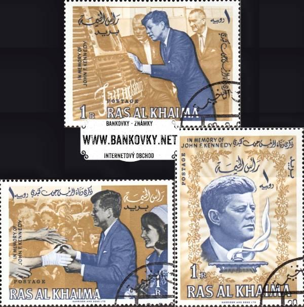 Známky Ras Al Khaimah 1965 Prezident Kennedy, razítk. séria