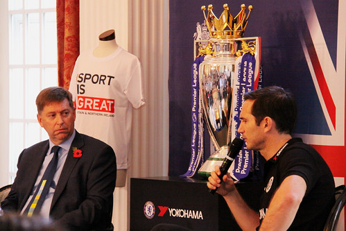 Frank Lampard at the British Embassy Tokyo