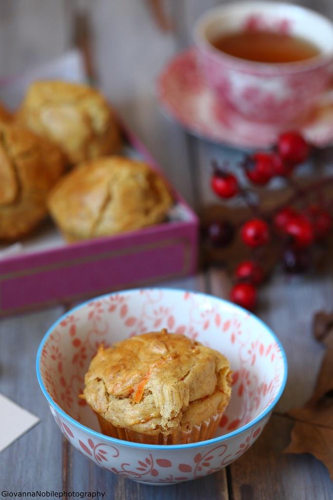 Muffin con carote e mandorle 2