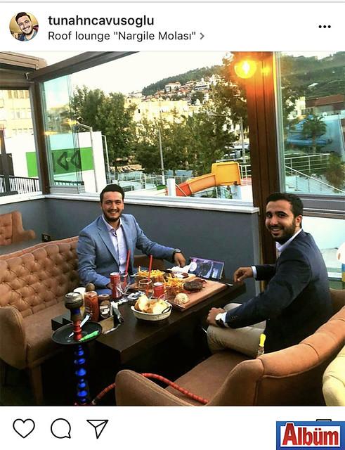 Tunahan Çavuşoğlu, yakın dostu Can Barcın ile birlikte Roof Lounge'de keyifli bir akşam üzeri geçirdi.