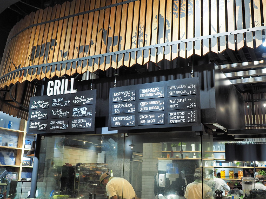 The grill food section of Marché Mövenpick Pavilion