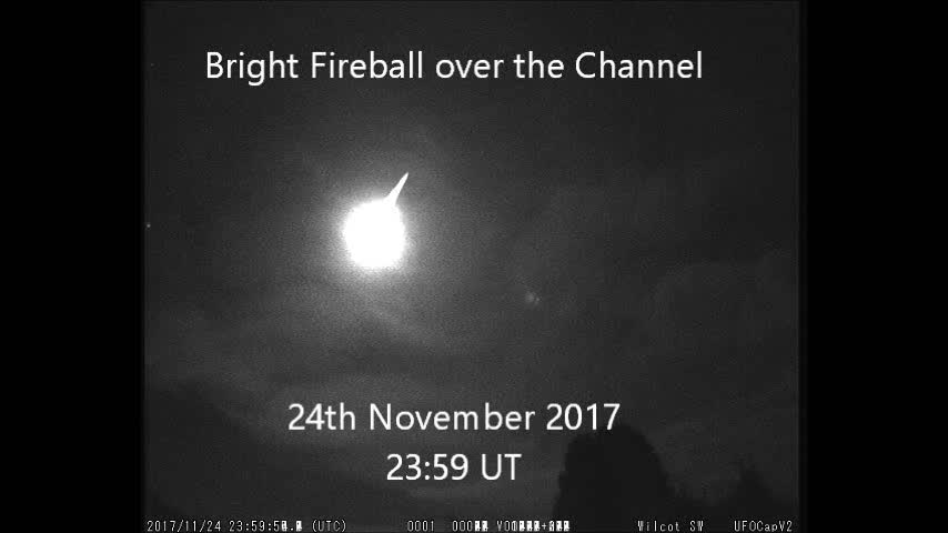 Fireball over the Channel, 24th November 2017