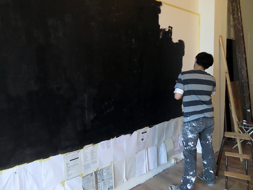 Painting the blackboard wall