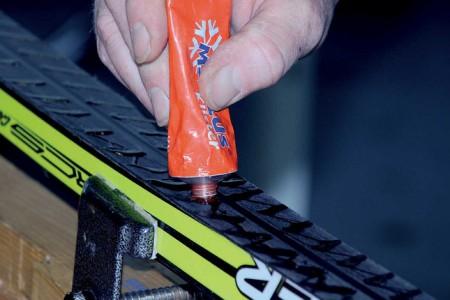 Příprava klasických běžeckých lyží na odraz