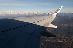 EI-DYV Ryanair B737-800/WL Inflight French Alps