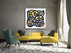 ottograph painting above the sofa nr3