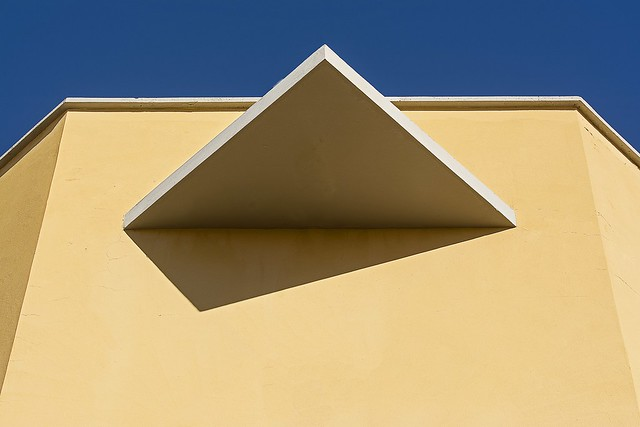 Yellow wall and triangle