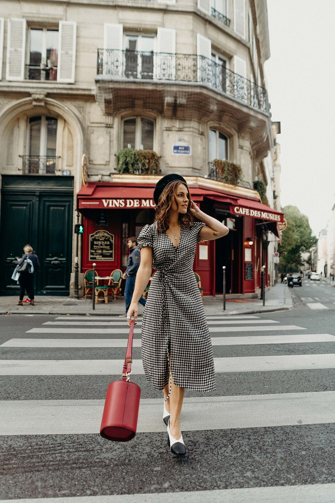 Reformation checked dress the little magpie paris