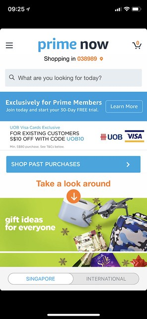 Amazon Prime Singapore - Singapore Section