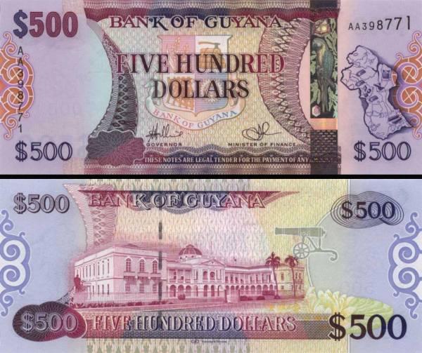 500 Dolárov Guyana 2011, P37