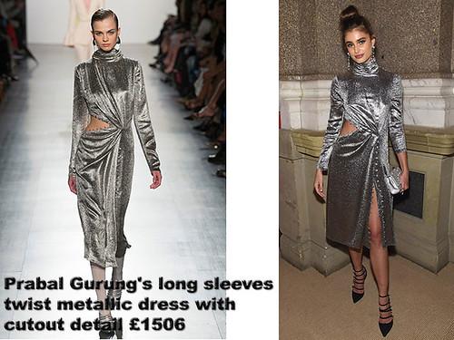 Prabal-Gurung's-long-sleeves-twist-metallic-dress-with-cutout-detail-