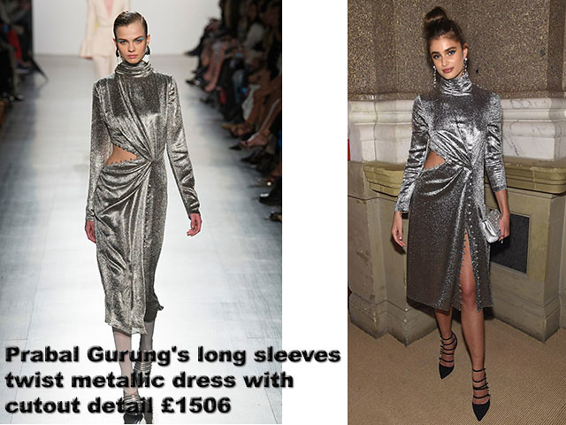 Prabal-Gurung's-long-sleeves-twist-metallic-dress-with-cutout-detail-