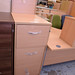 Three door beech filing cabinet E110