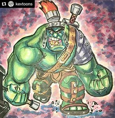 #Repost @kevtoons ・・・ WW Hulk all done. Have a great day everyone. . . . #marvel #hulk #comics #cartoons #characterdesign #copics #strathmore #strathmoreart #artlfe