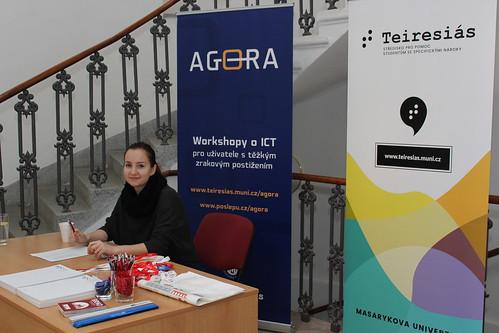 Agora - workshopy o ICT pro zrakově postižené ve Středisku Teiresiás, 4.-5. 11. 2017