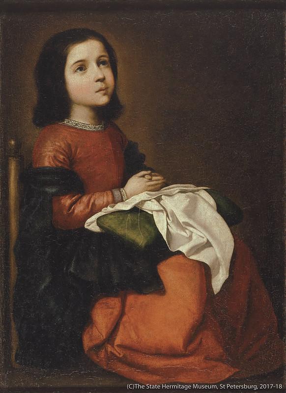 フランシスコ・デ・スルバランの《聖母マリアの少女時代》(1660年頃)エルミタージュ美術館所蔵