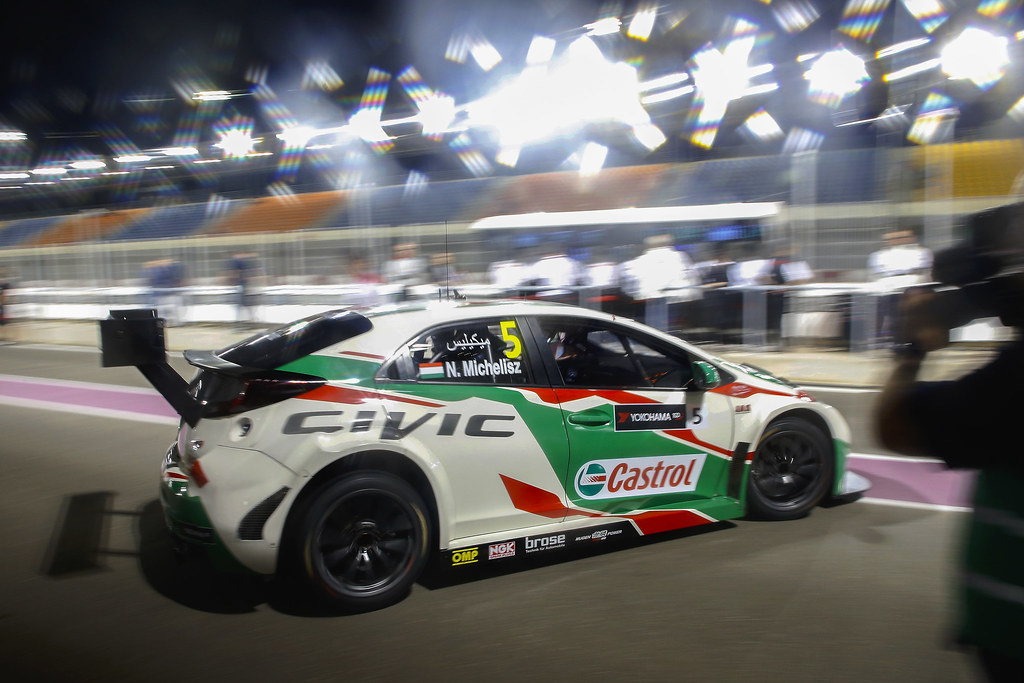 05 MICHELISZ Norbert, (hun), Honda Civic team Castrol Honda WTC, action during the 2017 FIA WTCC World Touring Car Championship race at Losail  from November 29 to december 01, Qatar - Photo Jean Michel Le Meur / DPPI
