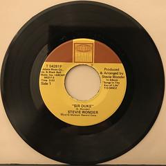 STEVIE WONDER:SIR DUKE(RECORD SIDE-A)