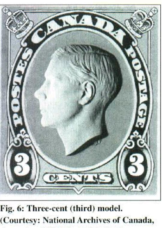 Canada 3-cent model for unissued Edward VIII stamp