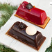 Christmas bûche - Chocolate and Berries