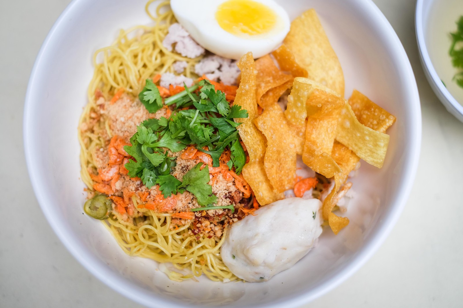 tom yum egg noodles landscape
