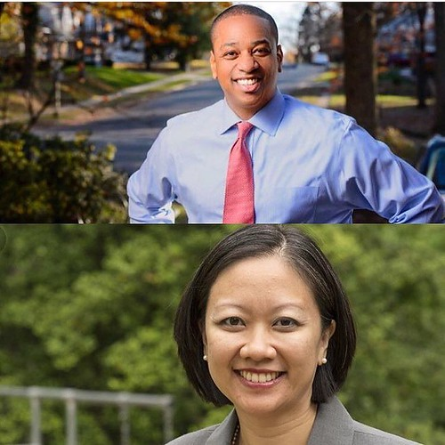 Yesterday, history was made in Virginia by two @dukealumni and classmates. Justin Fairfax '00 was elected Lt. Governor of Virginia, becoming only the second politician elected to commonwealth-wide office in the states history. Mary Tran '00 came to the US