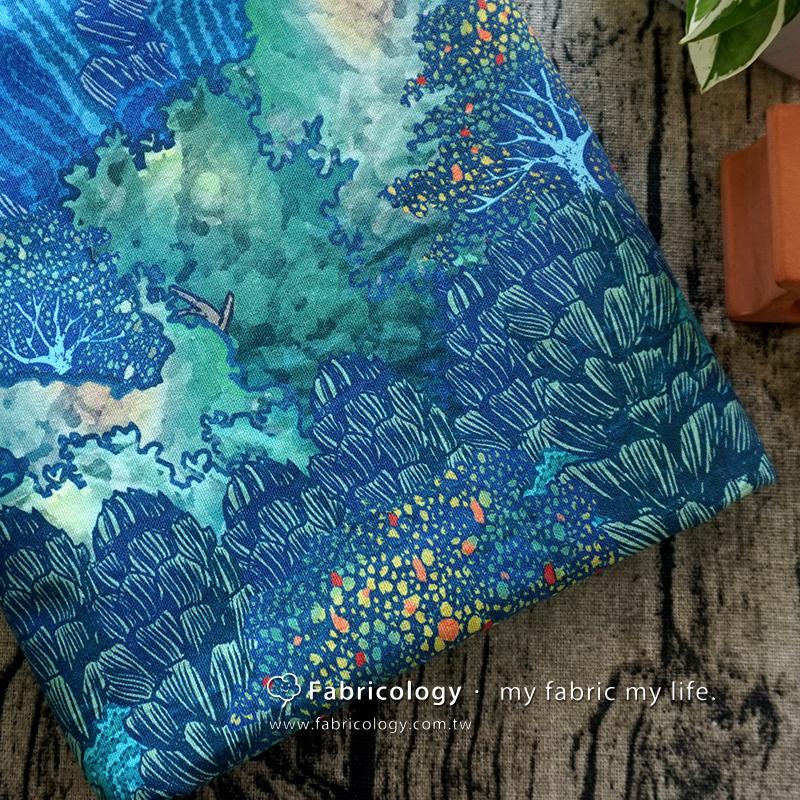 布學盒裝印花布(3尺)海拔森林線 手工藝DIy拼布布料 SW001709-10