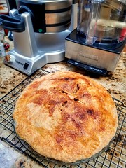 My Classic Apple Pie from scratch is done! Happy Turkey Day, Flickr-bies!
