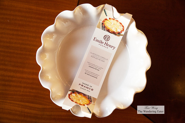 Emile Henry 10-inch ruffled pie pan