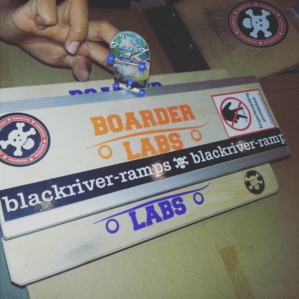 Blackriver bench all stickered up. #blackriver #boarderlabs #boardkennel